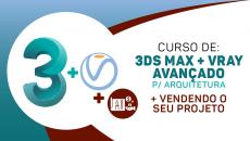 3DS MÁX + VRAY P / ARQUITETURA + Vendendo o seu projeto!